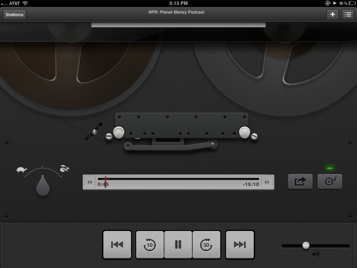 Screen shot of Apple's Podcasts app for iOS