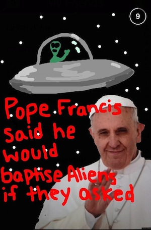 pope francis snap