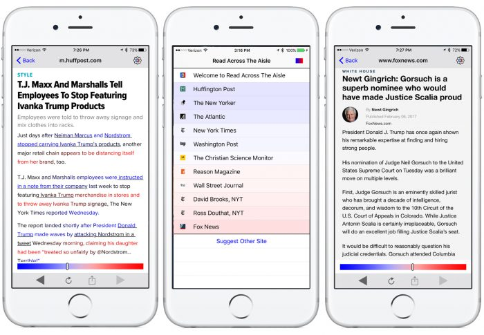 A news app aims to burst filter bubbles by nudging readers