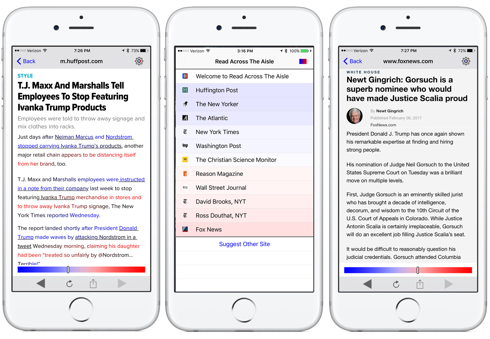 "A news app aims to burst filter bubbles by nudging readers toward a more ""balanced"" media diet"