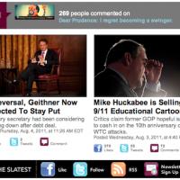 Screen shot of the new Slatest
