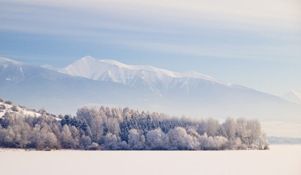Winter Symmetry in the Cold Morning ~ Liptov, Slovakia