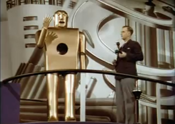 Smoking robot at 1939 New York World's Fair