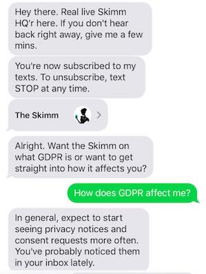 The Skimm launches a 1:1, bot-less (for now) texting service to help subscribers make decisions