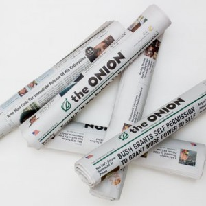 Print editions of The Onion