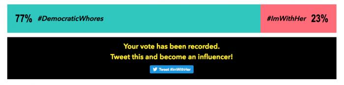 vote-hillary-democratic-whores-tylt-twitter